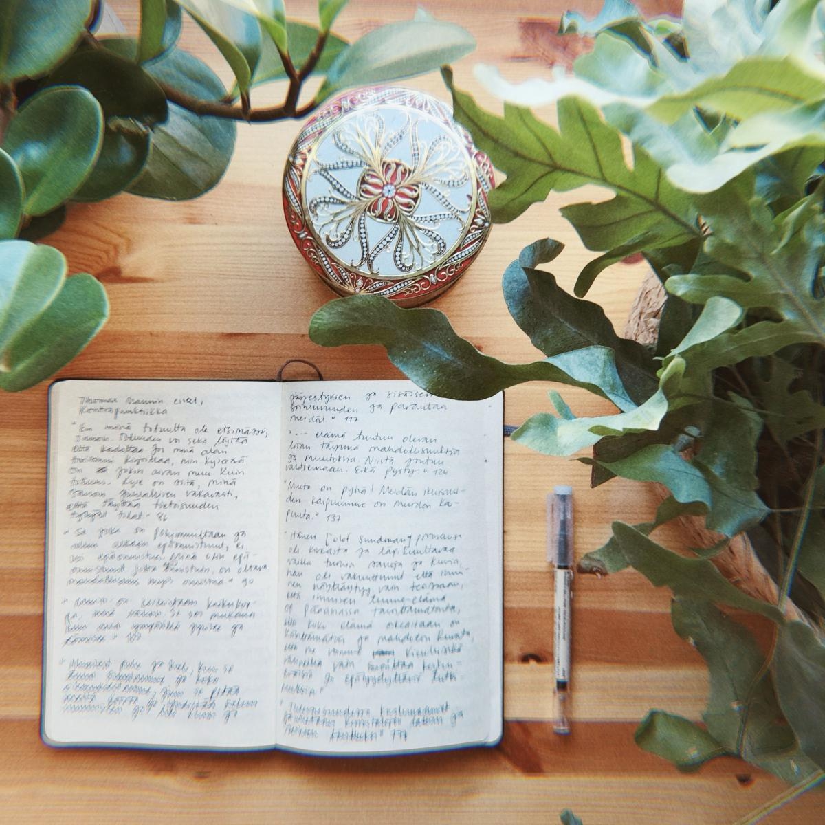 ideoita kirjoittamiseen